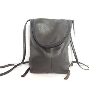 Sven Berkeley black leather mini back pack